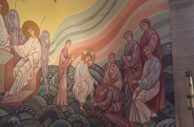 Mary Magdalene anoints Jesus'feet